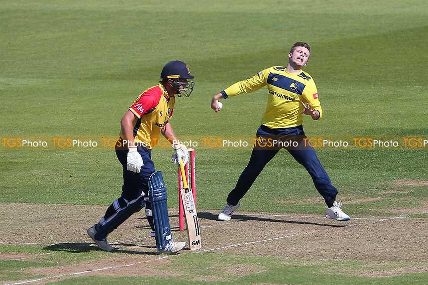 Mason Crane in bowling action for Hampshire during Hampshire Hawks vs Essex Eagles, Vitality Blast T20 Cricket at The Ageas Bowl on 16th July 2021