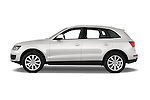 Driver side profile view of a 2009 - 2012 Audi Q5 Ambiente 5 Door Suv 4WD