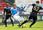 St Johnstone v Celtic…20.08.16..  McDiarmid Park  SPFL<br />Savid Wotherspoon tackles Kieran Tierney<br />Picture by Graeme Hart.<br />Copyright Perthshire Picture Agency<br />Tel: 01738 623350  Mobile: 07990 594431