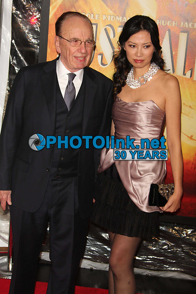 Rupert Murdoch & wife Wendi Deng  11-24-08 Photo By John Barrett/PHOTOlink