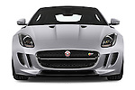 Car photography straight front view of a 2017 Jaguar F-Type S 3 Door Coupe 2WD Front View