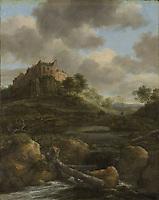 Bentheim Castle, castle in Bad Bentheim, Lower Saxony, Germany, Jacob Isaacksz. van Ruisdael, 1650 - 1682