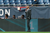 FOXBOROUGH, MA - MAY 12: New England Revolution II coach Clint Peay during a game between Union Omaha and New England Revolution II at Gillette Stadium on May 12, 2021 in Foxborough, Massachusetts.