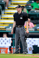 Umpire Charlie Tierney during a game between the Bradenton Marauders and Fort Myers Miracle at McKechnie Field on April 7, 2013 in Bradenton, Florida.  Fort Myers defeated Bradenton 9-8 in ten innings.  (Mike Janes/Four Seam Images)