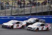 #11: Denny Hamlin, Joe Gibbs Racing, Toyota Camry FedEx Office and #2: Brad Keselowski, Team Penske, Ford Mustang Discount Tire/Americas Tire