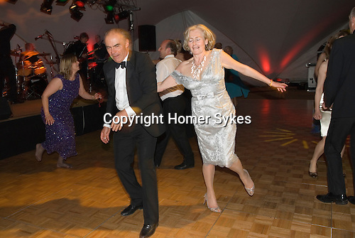 elderly couple dancing wealthy rich people private party Hampshire UK 2008,