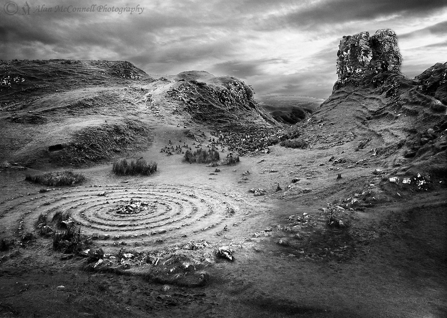 The Fairy Glen on the Isle of Skye is an enchanting place to stroll around and let your imagination wander.  This whimsical landscape is a bit off the beaten path and looks like great place to find mythical beings.  It is a fun place to visit.