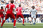 Real Madrid´s Karembeu during 2015 Corazon Classic Match between Real Madrid Leyendas and Liverpool Legends at Santiago Bernabeu stadium in Madrid, Spain. June 14, 2015. (ALTERPHOTOS/Victor Blanco)