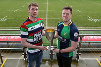 Monday 24th February 2020 | Deep River Rock Ulster Towns Cup Semi-Final Draw<br /> <br /> Pictured with the Deep River Rock Ulster Towns Cup are Ballyclare RFC captain Josh Young and Ballynahinch RFC 2s captain Eamon McAnulty. Photo by John Dickson / DICKSONDIGITAL