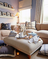 Soup is served in a sitting room in preparation for a lazy afternoon with cushions throws and a stack of books