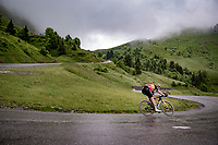 Belgian National Champion Wout van Aert (BEL/Jumbo-Visma) descending the Col de la Colombière (1618 m)<br /> <br /> Stage 8 from Oyonnax to Le Grand-Bornand (151km)<br /> 108th Tour de France 2021 (2.UWT)<br /> <br /> ©kramon