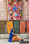 Vendor selling her wares, Pushkar Fair, India
