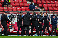 22nd May 2021; Stadium of Light, Sunderland, Tyne and Wear, England; English Football League, Playoff, Sunderland versus Lincoln City; Michael Appleton, Manager of Lincoln City, celebrates after the final whistle  after beating Sunderland 3-2 (aggregate)