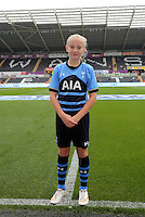 Child mascot. Barclays Premier League match between Swansea City and Tottenham Hotspur played at The Liberty Stadium, Swansea on October 4th 2015