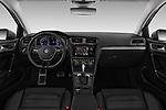 Stock photo of straight dashboard view of 2017 Volkswagen Golf Alltrack Base 5 Door Wagon