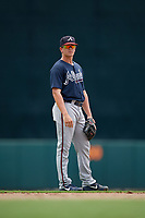 GCL Braves Cade Bunnell (25) during a Gulf Coast League game against the GCL Orioles on August 5, 2019 at Ed Smith Stadium in Sarasota, Florida.  GCL Orioles defeated the GCL Braves 4-3 in the second game of a doubleheader.  (Mike Janes/Four Seam Images)
