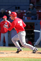 Ohio State Buckeyes Blake Hutton #37 during a game vs. the Illinois State Redbirds at Chain of Lakes Park in Winter Haven, Florida;  March 11, 2011.  Illinois defeated Ohio State 12-1.  Photo By Mike Janes/Four Seam Images