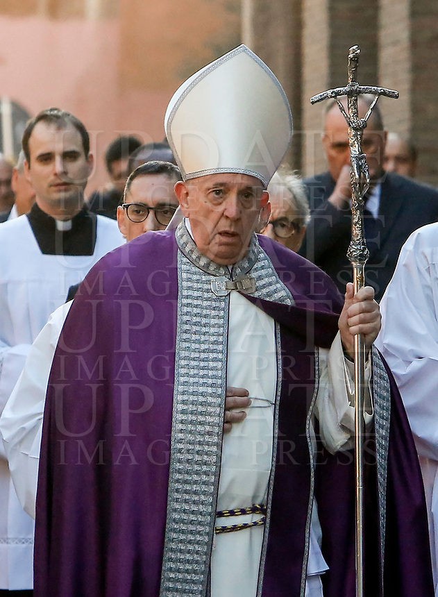 Pope Francis takes part in the penitential procession on Ash Wednesday which opens Lent, in Rome, February 26, 2020.<br /> UPDATE IMAGES PRESS/Riccardo De Luca<br /> <br /> STRICTLY ONLY FOR EDITORIAL USE