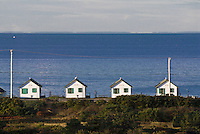 Row of cottages, Truro,Cape Cod, Massachusetts, USA.