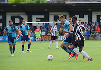 Nick Freeman of Wycombe Wanderers on the ball during the Friendly match between Maidenhead United and Wycombe Wanderers at York Road, Maidenhead, England on 30 July 2016. Photo by Alan  Stanford PRiME Media Images.
