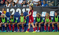 Carson, CA - Thursday August 03, 2017: Ali Krieger during a 2017 Tournament of Nations match between the women's national teams of the United States (USA) and Japan (JAP) at StubHub Center.