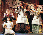 2001 - LITTLE WOMEN - Laurie (Jeffrey Lentz) and the March sisters (Christine Suh, Kirstin Chavez and Stephanie Woodling) play a childhood game in the Court of Last Resort in Opera Pacific's production of Little Women at the Irvine Barclay Theater.
