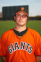 San Francisco Giants minor league pitcher Ian Gardeck #58 poses for a photo after an instructional league game against the Colorado Rockies at the Salt River Flats Complex on October 4, 2012 in Scottsdale, Arizona.  (Mike Janes/Four Seam Images)