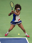 {{iptcmonthname} 29,2017:  Naomi Osaka (JPN) defeated Angelique Kerber (GER) 6-3, 6-1, at the US Open being played at Billie Jean King Tennis Center in Queens, New York.  ©Leslie Billman/Tennisclix