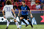 FC Internazionale Forward Stevan Jovetic (R) plays against Chelsea Defender David Luiz (L) during the International Champions Cup 2017 match between FC Internazionale and Chelsea FC on July 29, 2017 in Singapore. Photo by Marcio Rodrigo Machado / Power Sport Images