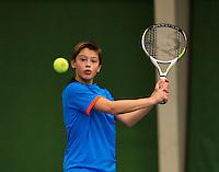 November 30, 2014, Almere, Tennis, Winter Youth Circuit, WJC, Freek van Donselaar    Kaj van den Heuvel<br /> Photo: Henk Koster
