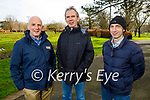 Enjoying a stroll in the Tralee town park on Thursday, l to r: Brendan, Padraig and Kerry Kennelly.