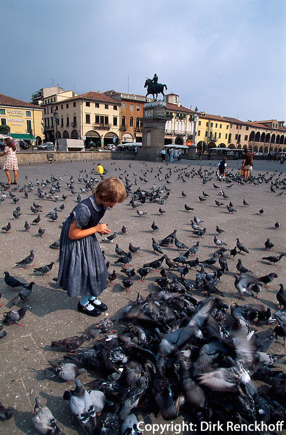 Italien, Venetien-Friaul, Padua, auf der Piazza del Santo