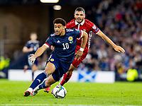 4th September 2021; Hampden Park, Glasgow, Scotland: FIFA World Cup 2022 qualification football, Scotland versus Moldova: Che Adams of Scotland keeps possession of the ball