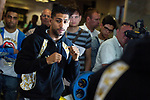 © Joel Goodman - 07973 332324 . 30/05/2012 . Bolton , UK . AMIR KHAN holds a workout photocall in Bolton ahead of his stint as an Olympic torchbearer on 31st May Photo credit: Joel Goodman