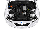 Car stock 2020 BMW m2 competition Base 2 Door Coupe engine high angle detail view