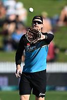 20th December 2020; Hamilton, New Zealand;  James Neesham during warm up, New Zealand Black Caps versus Pakistan, International Twenty20 Cricket. Seddon Park, Hamilton, New Zealand.