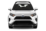Car photography straight front view of a 2021 Toyota RAV4-Prime SE 5 Door SUV Front View