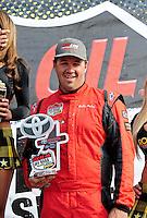 Mar. 20, 2011; Chandler, AZ, USA;  LOORRS super buggy driver Bobby Pecoy after finishing third during round two at Firebird International Raceway. Mandatory Credit: Mark J. Rebilas-