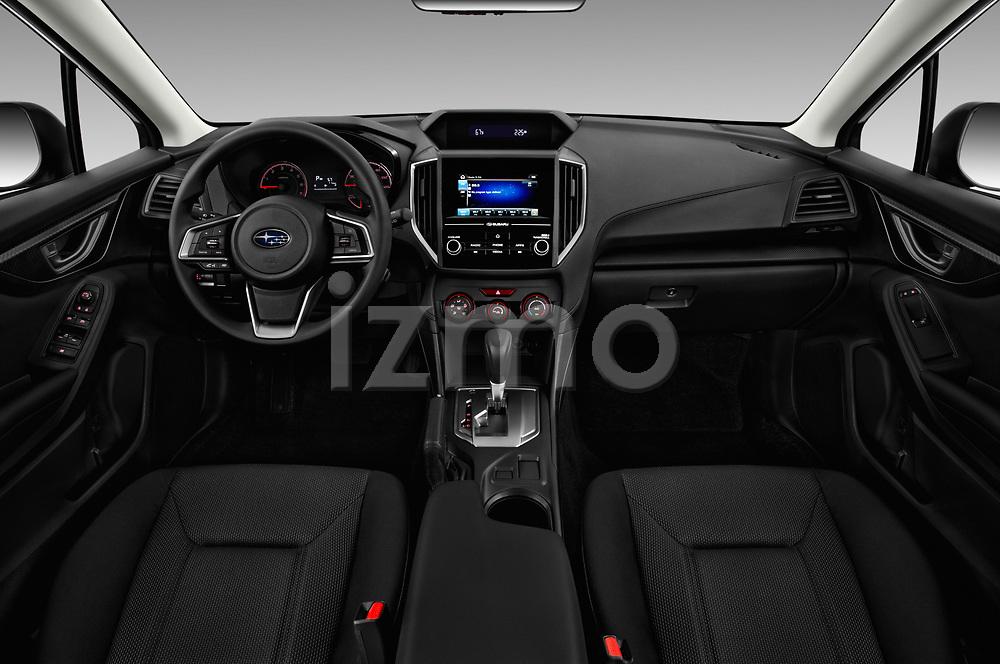 Stock photo of straight dashboard view of 2017 Subaru Impreza CVT 5 Door Hatchback Dashboard