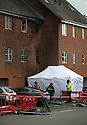 22/06/15<br /> <br /> The scene today in North Street, Langley Mill, Derbyshire, where three people died and five were injured in a flat fire where police have not ruled out arson.<br /> <br /> <br /> All Rights Reserved - F Stop Press.  www.fstoppress.com. Tel: +44 (0)1335 418629 +44(0)7765 242650