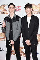"""LONDON, UK. October 09, 2019: Max & Harvey at the photocall for """"The X Factor: Celebrity"""", London.<br /> Picture: Steve Vas/Featureflash"""