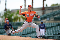 Baltimore Orioles pitcher Tanner Chleborad (41) during an instructional league game against the Tampa Bay Rays on September 25, 2015 at Ed Smith Stadium in Sarasota, Florida.  (Mike Janes/Four Seam Images)