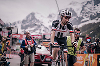 Tom Dumoulin (NED/Sunweb) tried to attack/close the gap to GC leader Chris Froome on ceveral occasions during the stage, but finally dropped back in the last km<br /> <br /> stage 20: Susa - Cervinia (214km)<br /> 101th Giro d'Italia 2018
