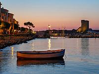 Hafen mit Sarazenteurm, Marciana Marina, Elba, Region Toskana, Provinz Livorno, Italien, Europa<br /> Port, and Saracen tower. Marciana Marina, Elba, Region Tuscany, Province Livorno, Italy, Europe