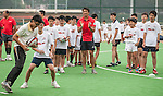 Hong Kong team player Salom Siu conducts a clinic with kids ahead the HSBC Asian Five Nations 2013 Top 5 Division Women match at the Hong Kong Football Club on 27 April 2013 in Hong Kong. Photo by Xaume Olleros / The Power of Sport Images