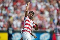 SANDY, UT - July 13, 2013: US Mens National Team forward Chris Wondolowski (19) celebrating one of his goals during the USA vs Cuba match at Rio Tinto Stadium in Sandy, Utah. Final score USA 4, Cuba 1.