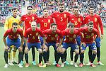 Spain's team photo with Iker Casillas, Marc Bartra, Hector Bellerin, Gerard Pique, Bruno Soriano, Alvaro Morata, Cesar Azpilicueta, Andres Iniesta, Cesc Fabregas, David Jimenez Silva and Nolito during friendly match. June 1,2016.(ALTERPHOTOS/Acero)