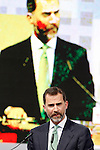 "Prince Felipe of Spain during his speech in Congress ""LAUREATE & JOBS SUMMIT ON YOUTH"".May 21,2013. (ALTERPHOTOS/Acero)"