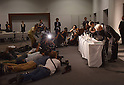 Embattled airbag manufacturer Takata Corp.holds news conference after shareholder meeting