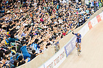 Francois Pervis of France celebrates winning in the Men's Kilometre TT Final during the 2017 UCI Track Cycling World Championships on 16 April 2017, in Hong Kong Velodrome, Hong Kong, China. Photo by Chris Wong / Power Sport Images